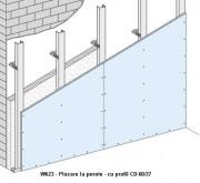 W623 - Placare la perete - cu profil CD 60/27 -  Placarea la pereti