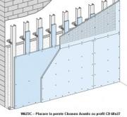W623C - Placare la perete Cleaneo Acustic cu profil CD -  Placarea la pereti