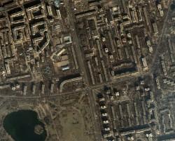 Fotografie aeriana cu blocuri din cartierul Titan - Proiecte tip