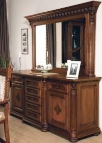 Bufet-rama oglinda lemn masiv Venetia Lux - Mobila sufragerie lemn masiv Venetia lux