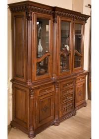 Bufet vitrina 3 usi lemn masiv Venetia Lux - Mobila sufragerie lemn masiv Venetia lux