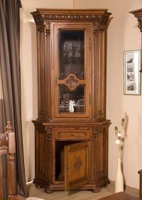 Bufet cu vitrina (colt) lemn masiv Venetia Lux - Mobila sufragerie lemn masiv Venetia lux