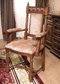 Scaun cu brat lemn masiv Venetia Lux - Mobila sufragerie lemn masiv Venetia lux