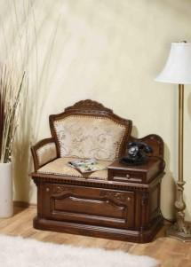 Banca telefon lemn masiv Cristina - Mobila sufragerie lemn masiv Cristina