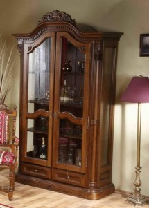 Cristalier cu 2 usi lemn masiv Cristina - Mobila sufragerie lemn masiv Cristina