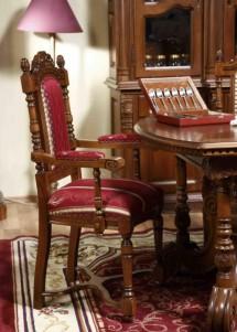 Scaun cu brat lemn masiv Cristina - Mobila sufragerie lemn masiv Cristina