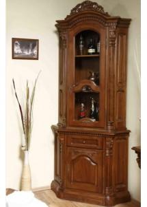 Vitrina colt lemn masiv Cristina - Mobila sufragerie lemn masiv Cristina