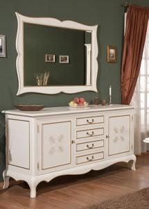 Rama oglinda lemn masiv Cora - Mobila sufragerie lemn masiv Cora