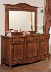 Bufet 3 usi 3 sertare lemn masiv Afrodita - Mobila sufragerie lemn masiv Afrodita