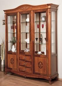 Cristalier 3 usi lemn masiv Afrodita - Mobila sufragerie lemn masiv Afrodita
