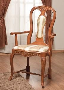 Scaun cu brat lemn masiv Afrodita - Mobila sufragerie lemn masiv Afrodita