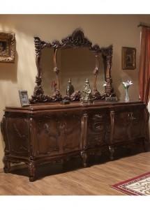 Bufet oglinda lemn masiv Cleopatra Lux  - Mobila sufragerie lemn masiv Cleopatra Lux