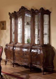 Bufet vitrina lemn masiv Cleopatra Lux  - Mobila sufragerie lemn masiv Cleopatra Lux