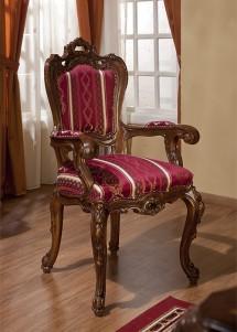 Scaun cu brat lemn masiv Cleopatra Lux - Mobila sufragerie lemn masiv Cleopatra Lux