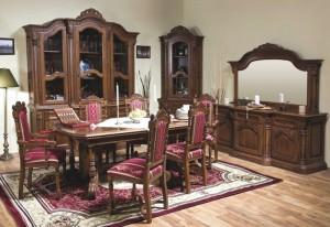 Garnitura sufragerie Cristina - Mobila sufragerie lemn masiv Cristina