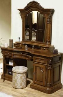 Toaleta-rama oglinda lemn masiv Cristina - Mobila dormitor lemn masiv Cristina
