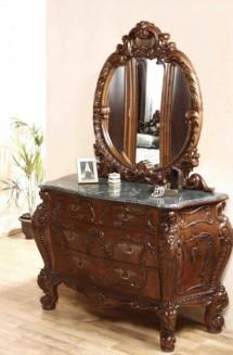 Comoda-rama oglinda lemn masiv Cleopatra Lux - Mobila dormitor lemn masiv Cleopatra Lux