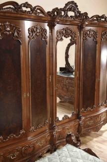 Dulap 5 usi lemn masiv Cleopatra Lux - Mobila dormitor lemn masiv Cleopatra Lux