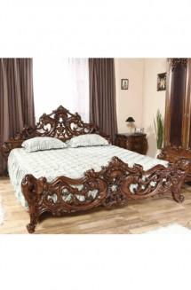 Pat lemn masiv Cleopatra Lux - Mobila dormitor lemn masiv Cleopatra Lux