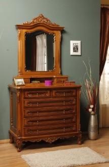 Comoda rama oglinda lemn masiv Cleopatra - Mobila dormitor lemn masiv Cleopatra