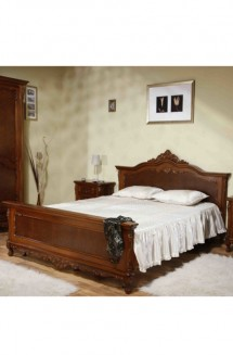 Pat 1600 lemn masiv Cleopatra - Mobila dormitor lemn masiv Cleopatra
