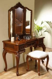 Toaleta-rama oglinda lemn masiv Cleopatra - Mobila dormitor lemn masiv Cleopatra