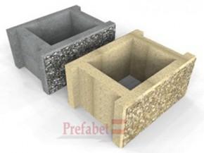 Boltari piatra spalata BPS30 2fs - Componente gard spalat