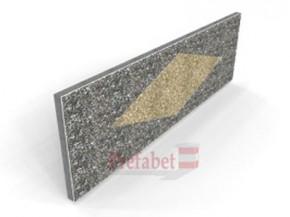Panouri piatra spalata PPST H60 romb - Componente gard spalat