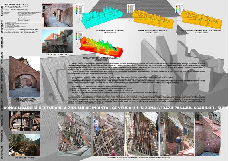 Lucrari de consolidare si reabilitare a zidului cetatii in zona strazii Pasajul Scarilor - Pasajul scarilor
