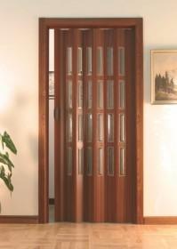 Usa plianta standard cu geamuri, deschidere laterala model CROMO - Usi pliante