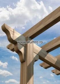 Pergola din aluminiu - Classic - Decor lemn - Pergola din aluminiu Classic