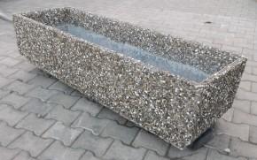 Jardiniera piatra spalata - Jardiniere din beton