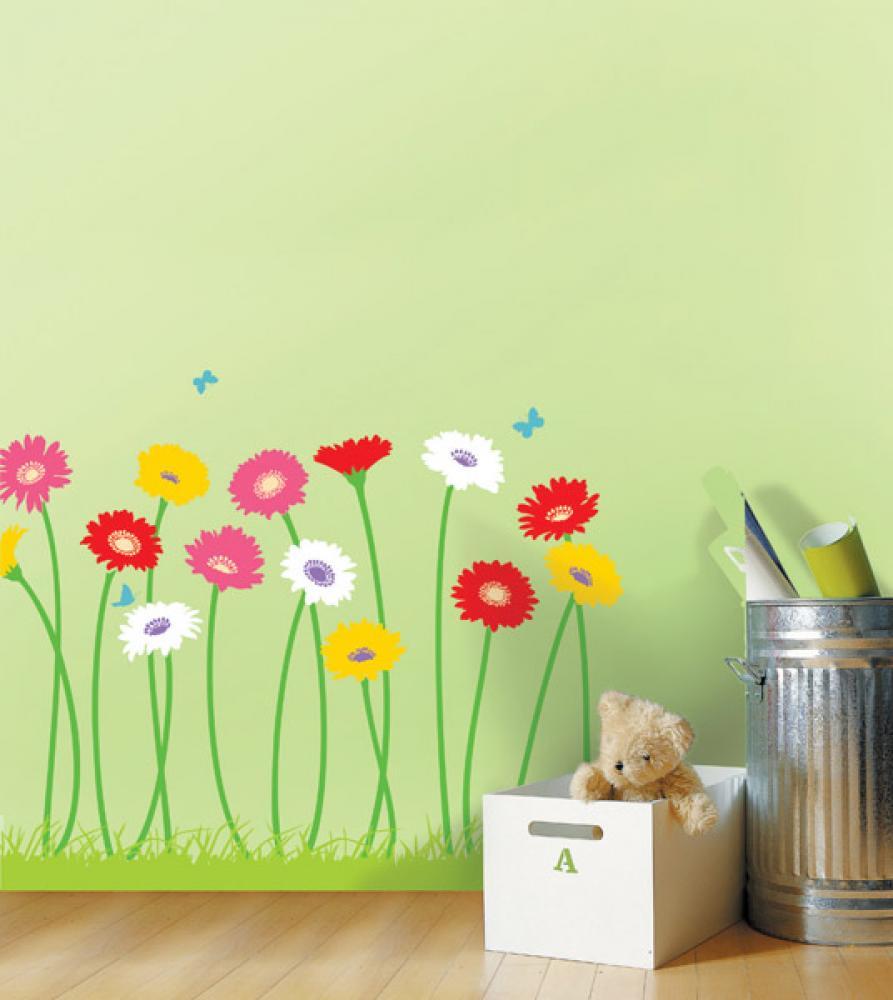 Нарисовать цветы на стену