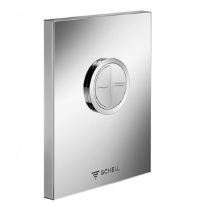 Placa actionare WC SCHELL EDITION ECO - 3.Robinete cu actionare mecanica cu montare in perete pentru spalare WC