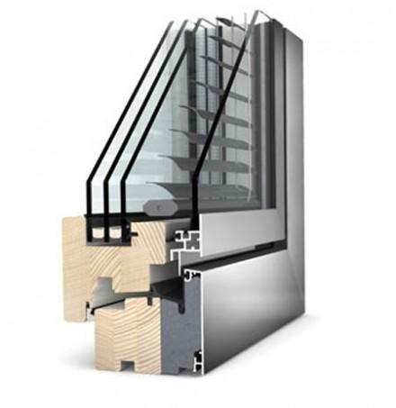 Ferestre Internorm® din lemn cu invelis exterior din aluminiu - Home Pure  - Home Pure
