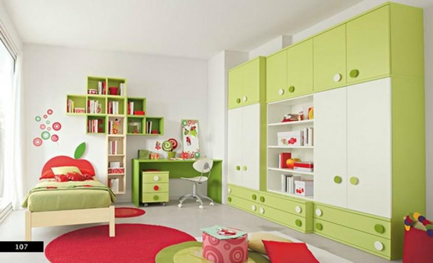 Foto via www.4lifehome.com - Interioare cu un design bazat pe combinatia rosu cu verde