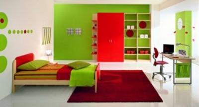 Design ZG Group, foto via httpwww.ispacedesign.com - Interioare cu un design bazat pe combinatia rosu cu verde