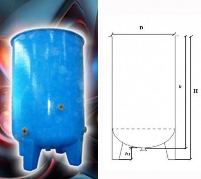 Rezervor fund bombat deschis cu gambe - Rezervoare supraterane verticale