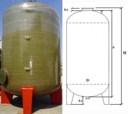 Rezervor fund bombat inchis cu gambe - Rezervoare supraterane verticale