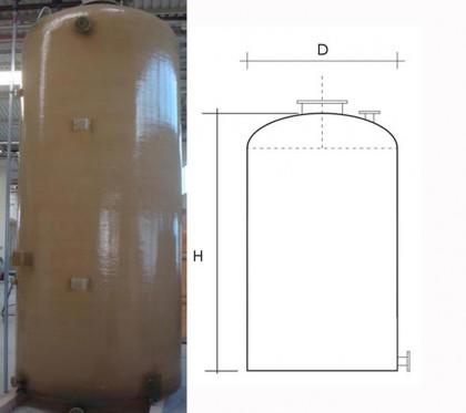 Rezervor fund plan inchis - Rezervoare supraterane verticale