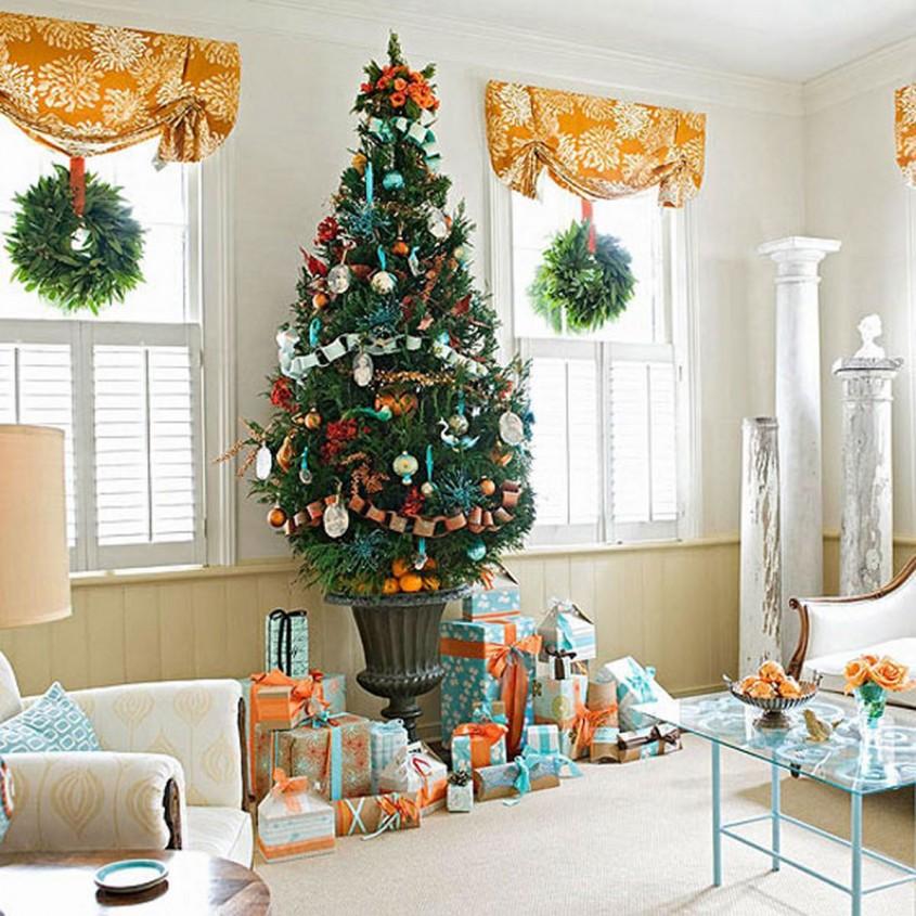 Foto via theluxhome.com - Alte idei de suporturi (asortate cu decoratiunile folosite in brad)