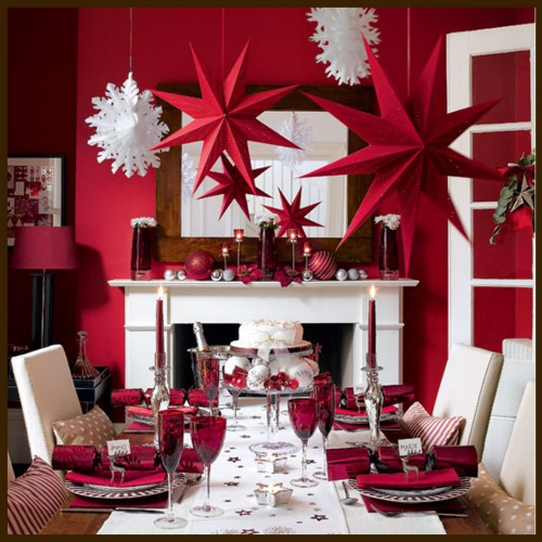 Foto via decorating-ideas-for.com - Amenajari festive, de la camere decorate in intregime, pana la detalii care dau nota de sarbatoare