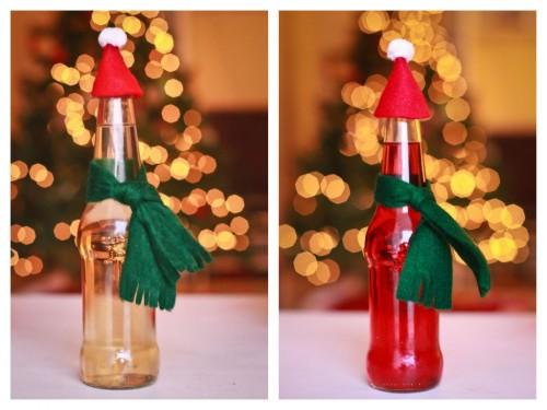 Si micile decoratiuni pentru sticle si masa festiva pot fi adaptate sezonului (foto via kojo-designs.com) - Amenajari festive, de la camere decorate in intregime, pana la detalii care dau nota de sarbatoare