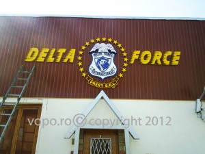Delta Force - Litere volumetrice din polistiren