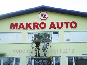 Makro Auto - Litere volumetrice din polistiren