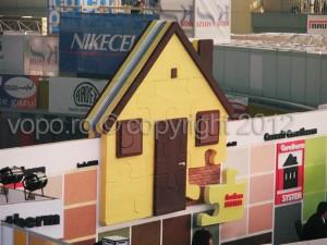 Construct Expo , stand expozitional Henkel - Forme, obiecte, litere volumetrice din polistiren 3D