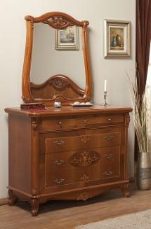 Comoda - rama oglinda lemn masiv Afrodita - Mobila dormitor lemn masiv Afrodita