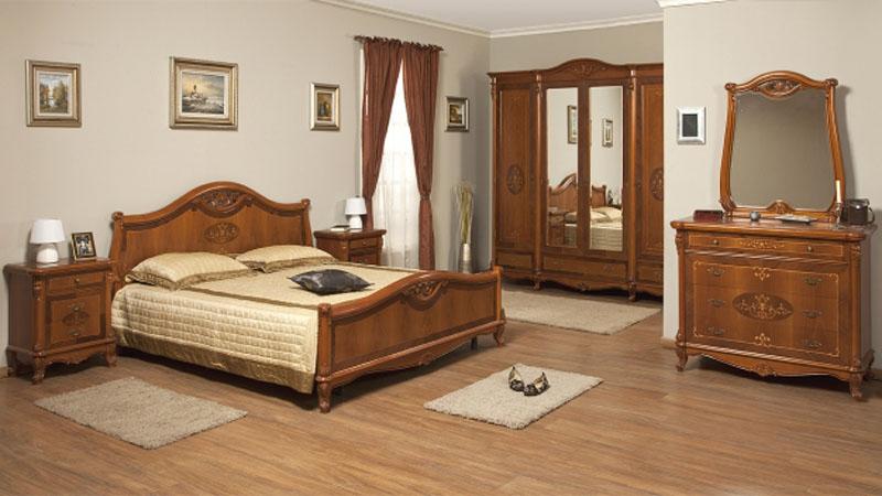 Румынская спальня Contessa Страна производитель: Румыния Бренд: Simex В румынский спальный гарнитур