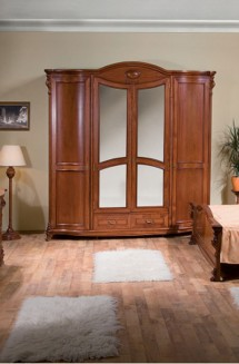 Dulap 4 usi lemn masiv Elysee - Mobila dormitor lemn masiv Elysee