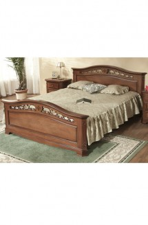 Pat lemn masiv Gino - Mobila dormitor lemn masiv Gino
